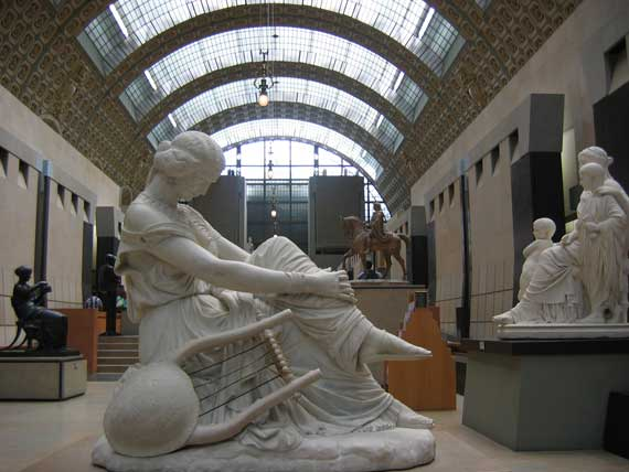 Touristic attractions of France : Orsay museum of the 19th century