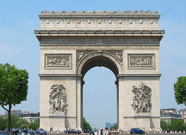 Touristic attractions of France : Arc de Triomphe