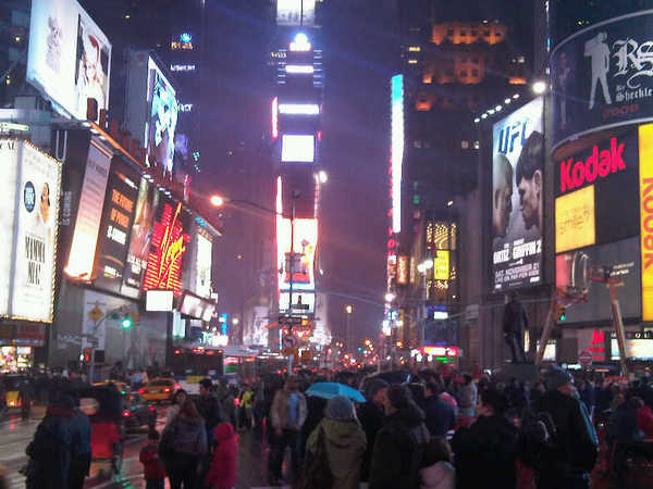 Touristic attractions of United States : Times Square