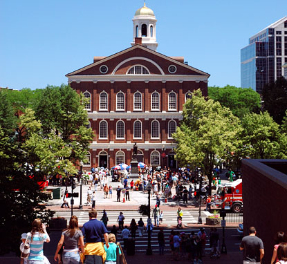 Touristic attractions of United States : Faneuil Hall Marketplace