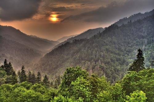 Touristic attractions of United States : Great Smoky Mountains