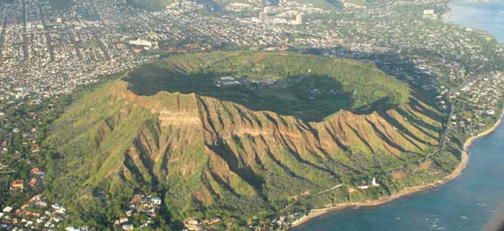 Attraits touristiques à Hawaii : Diamond Head Crater, Waikiki