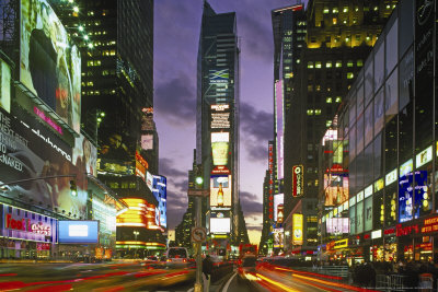 Touristic attractions of New York : Times Square