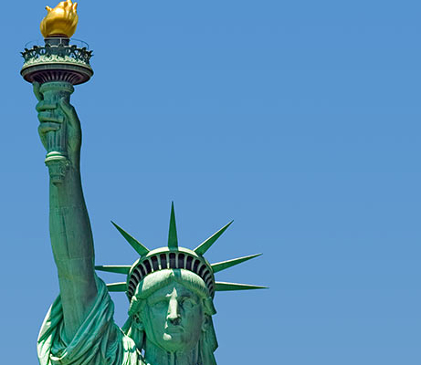 Touristic attractions of New York : Statue of Liberty